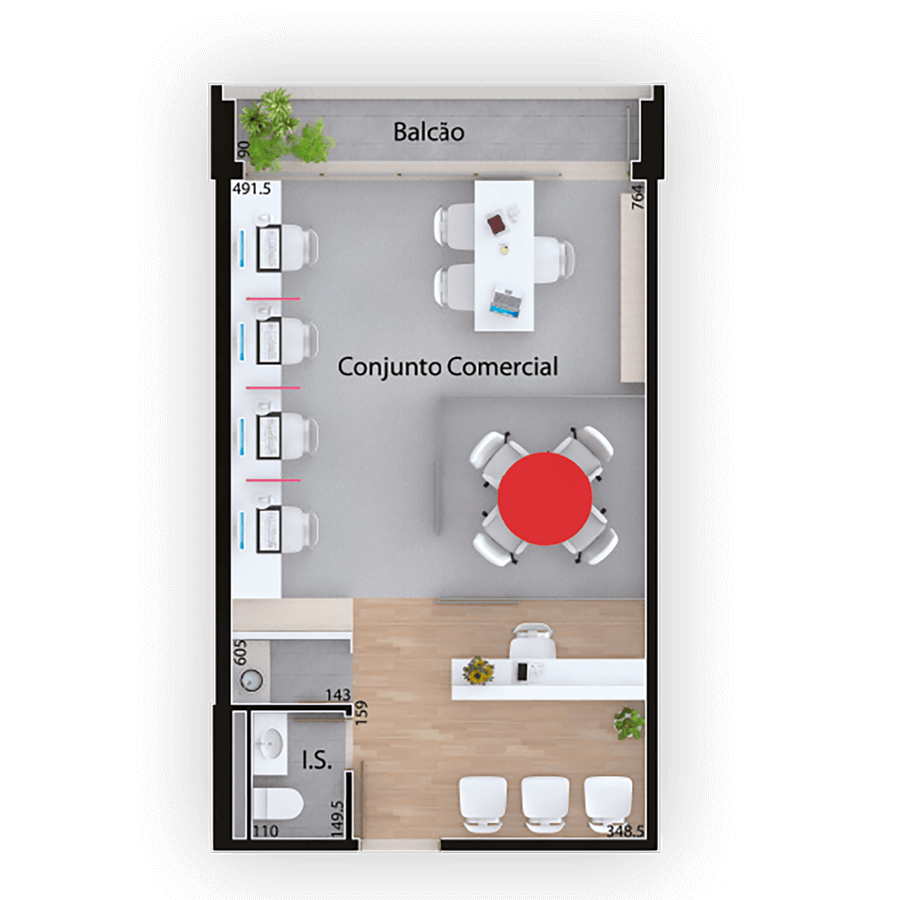 46 m² **Planta Comercial Mid Work