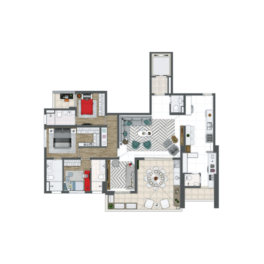 163 m² | 3 suítes Grand Panamby