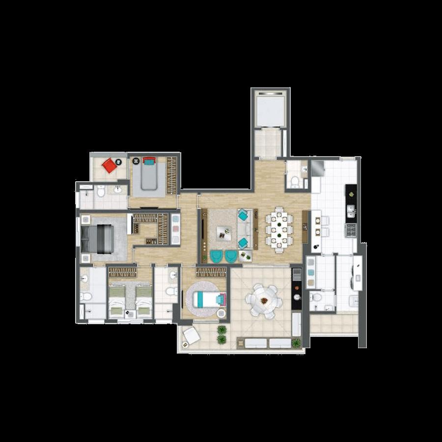 163 m² | 4 Dormitórios Grand Panamby