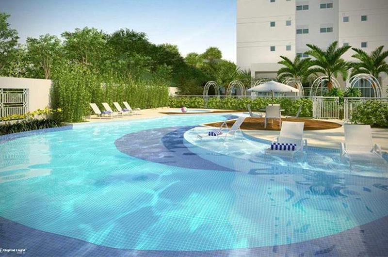piscina adulto e infantil descoberta Taman Jardim Sul