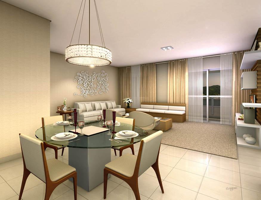 Perspectiva Ilustrada da Sala de estar ampliada 62m² VILA SÃO VICENTE - JACOB EMERICH