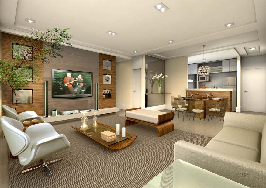 Perspectiva Ilustrada da Sala de estar ampliada 86m² VILA SÃO VICENTE - JACOB EMERICH
