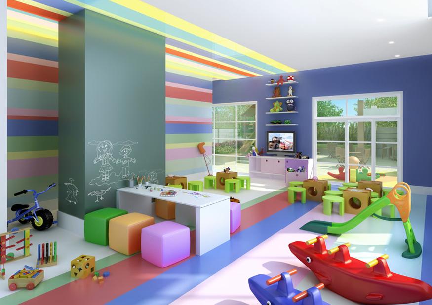 Perspectiva Ilustrada do Salão de Festas Infantil FOTOGRAFIA