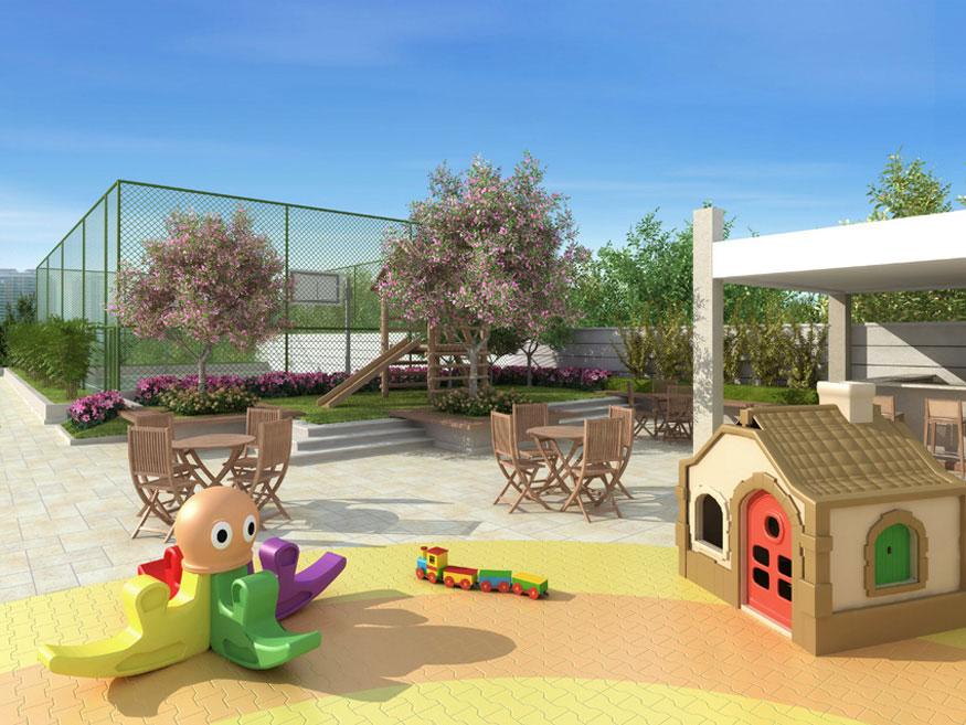 Perspectiva Ilustrada do Playground Infantil FOTOGRAFIA