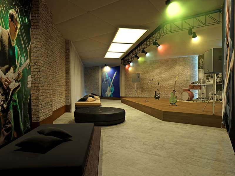 Perspectiva Ilustrada da Sala de Musica FORTE DO GOLF