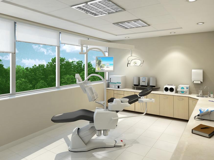 Perspectiva Ilustrada do Consultorio Dentista EMPRESARIAL JARDIM SUL