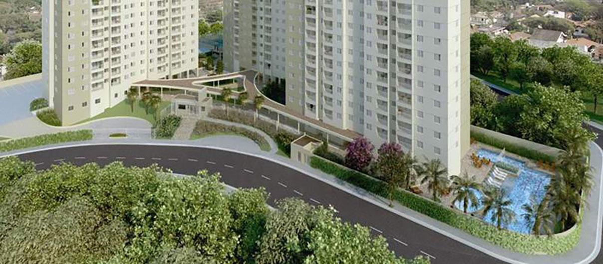 Perspectiva Ilustrada da Vista Cores Jardim Sul - Vermelho