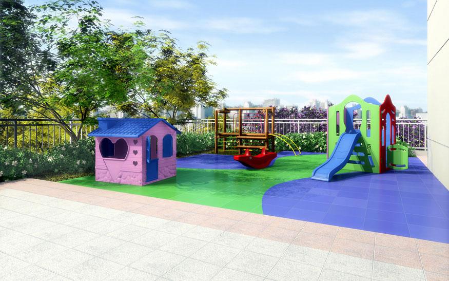 Perspectiva Ilustrada do Playground Andorinha