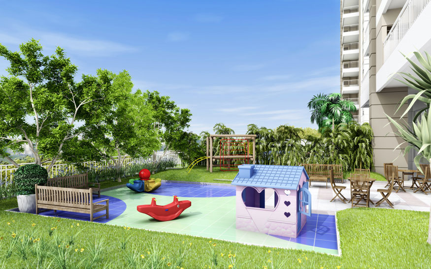Perspectiva Ilustrada do Playground Infantil Antígua