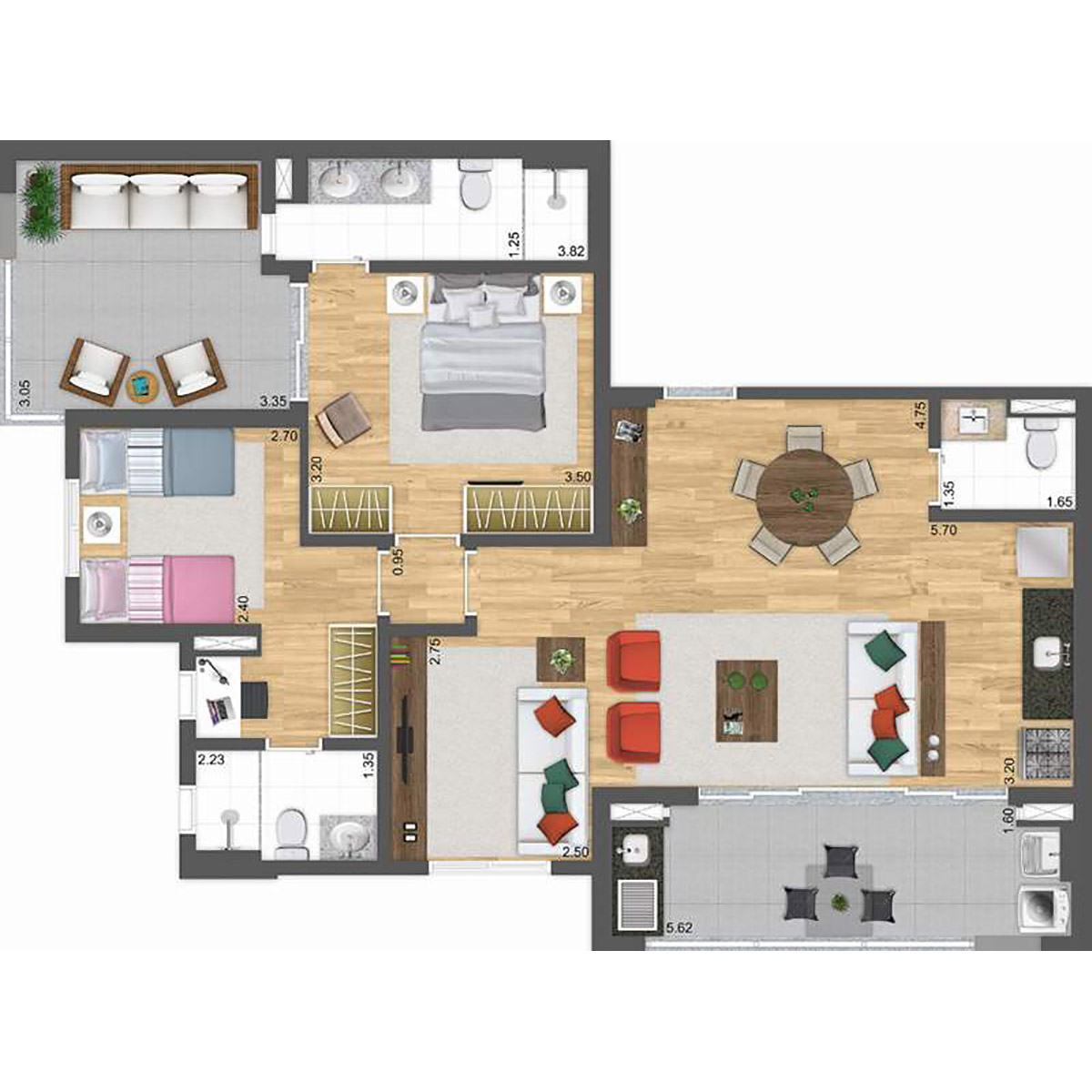 Cobertura de 97 m² - 3 suites Parway Panamby