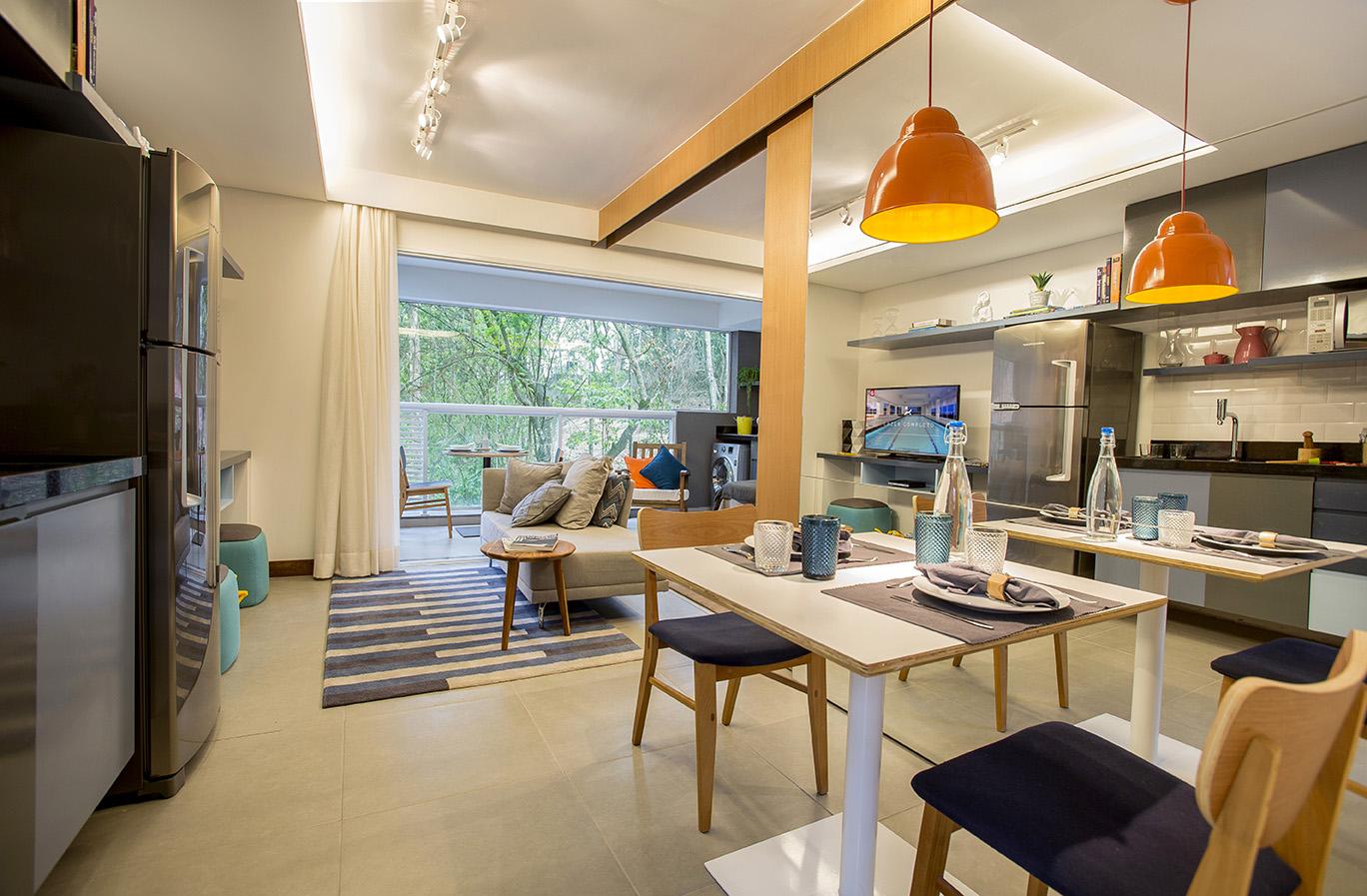 Living Ampliado 39 m² Parkway Panamby
