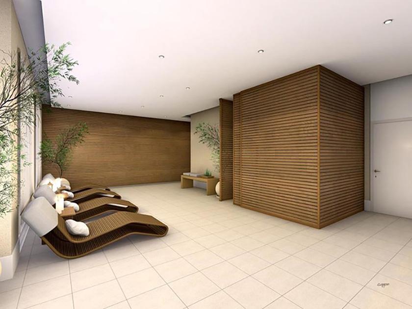 Perspectiva Ilustrativa da Sala de Massagem Vila Marina