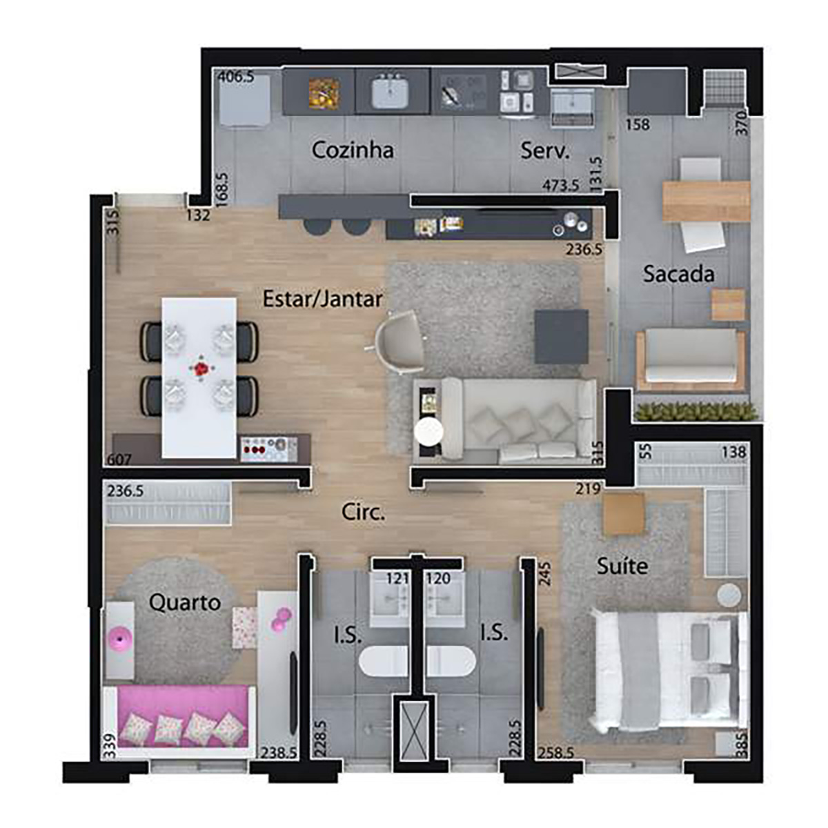 69 m² | 2 Dorms Mid Home