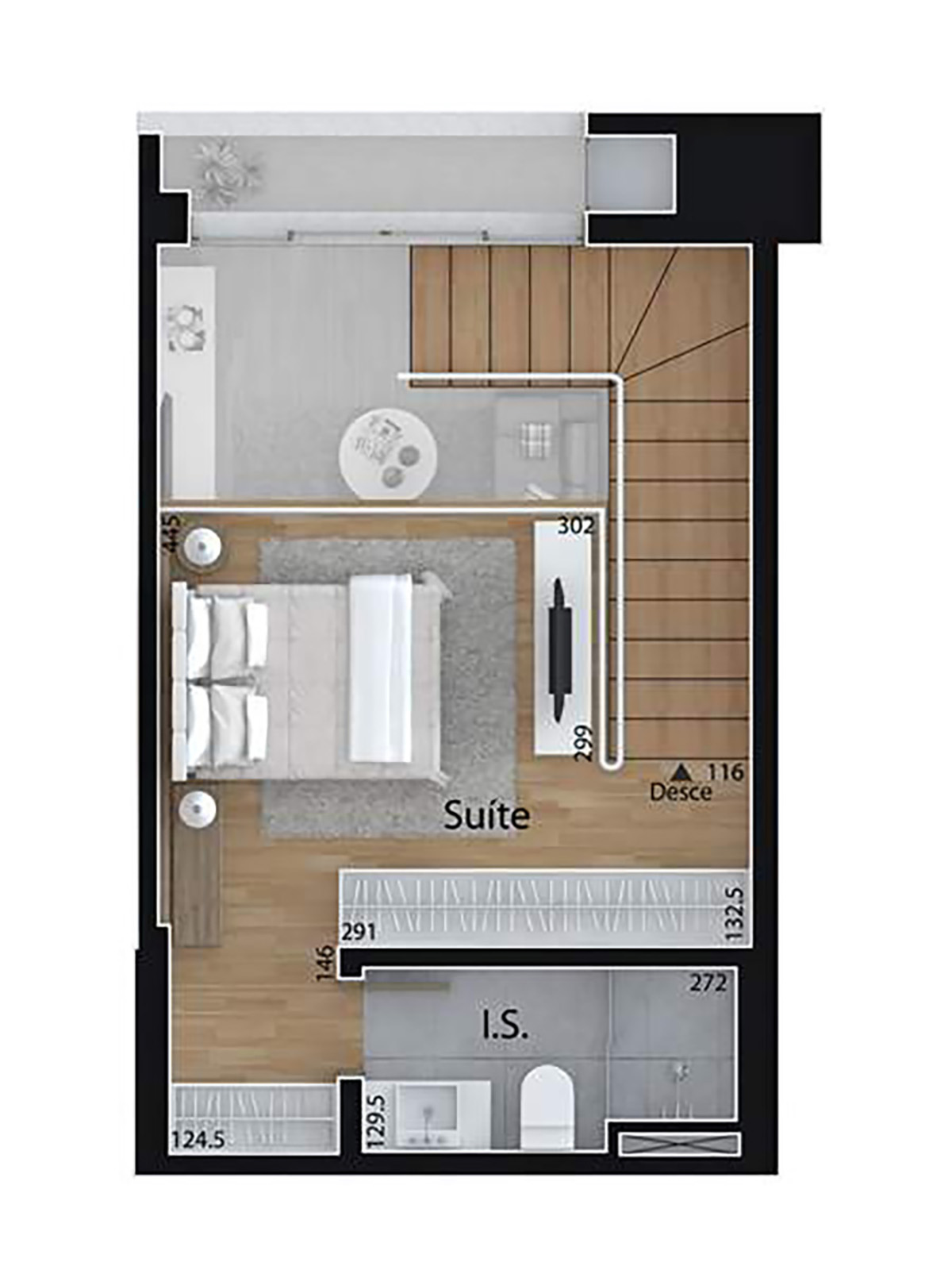Studio Duplex (Piso Superior) Mid Home