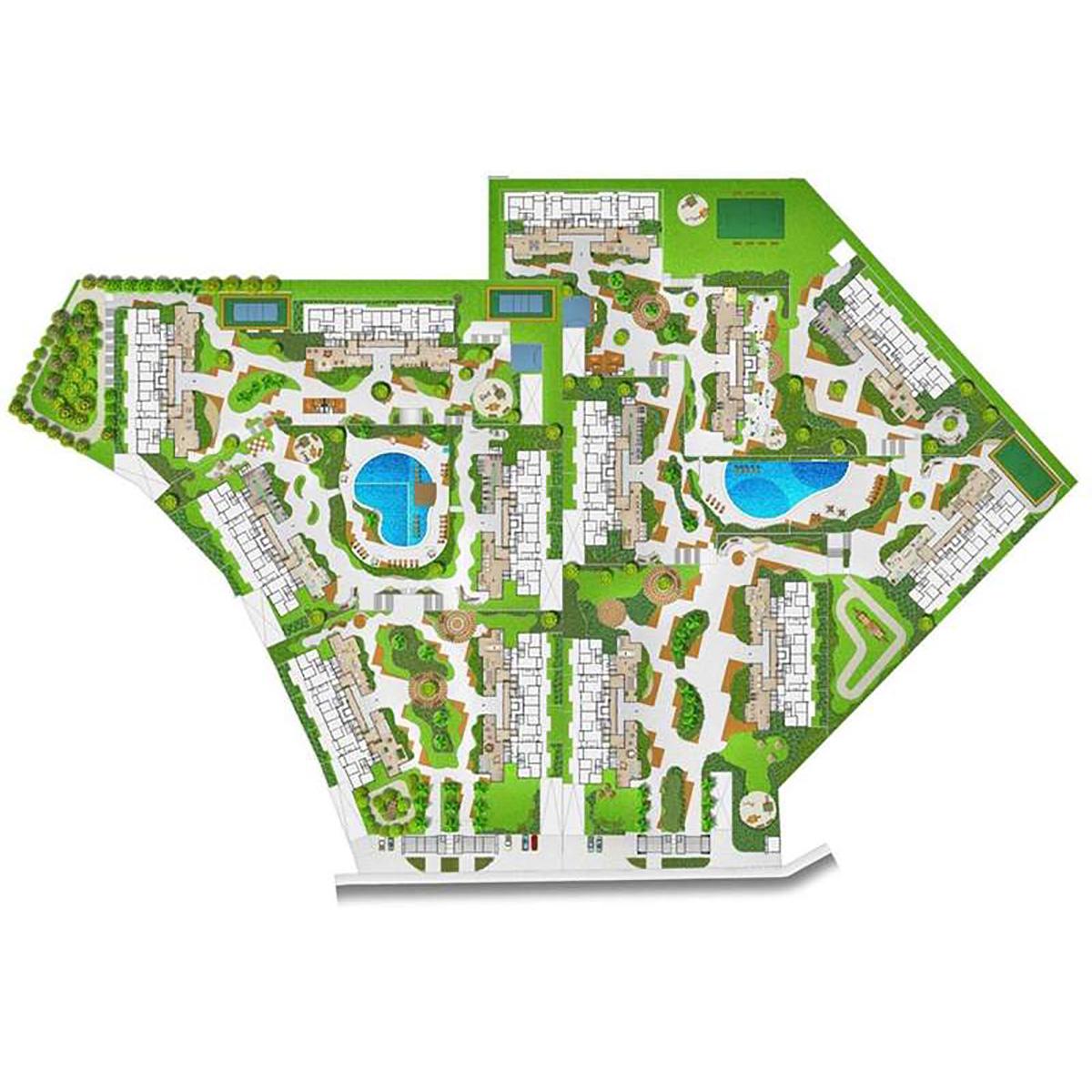 Implantação Interclube Parque Residencial