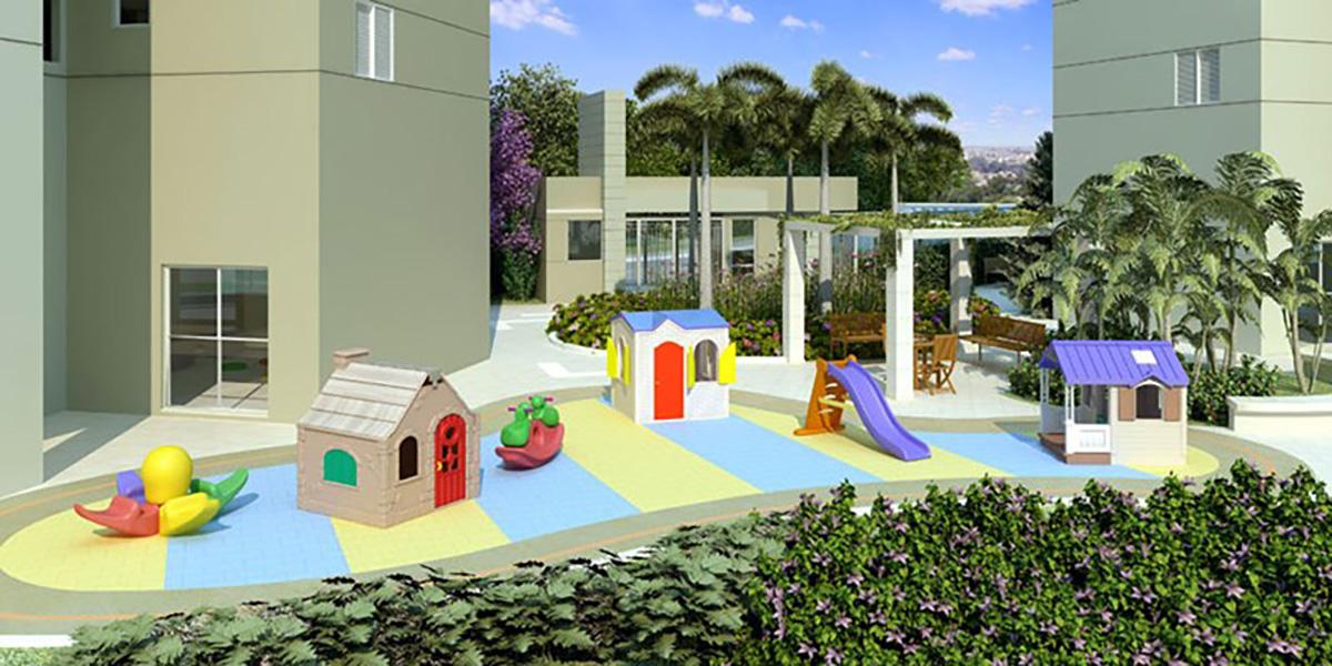 Perspectiva Ilustrada do Playground Infantil Cores Jardim Sul - Azul