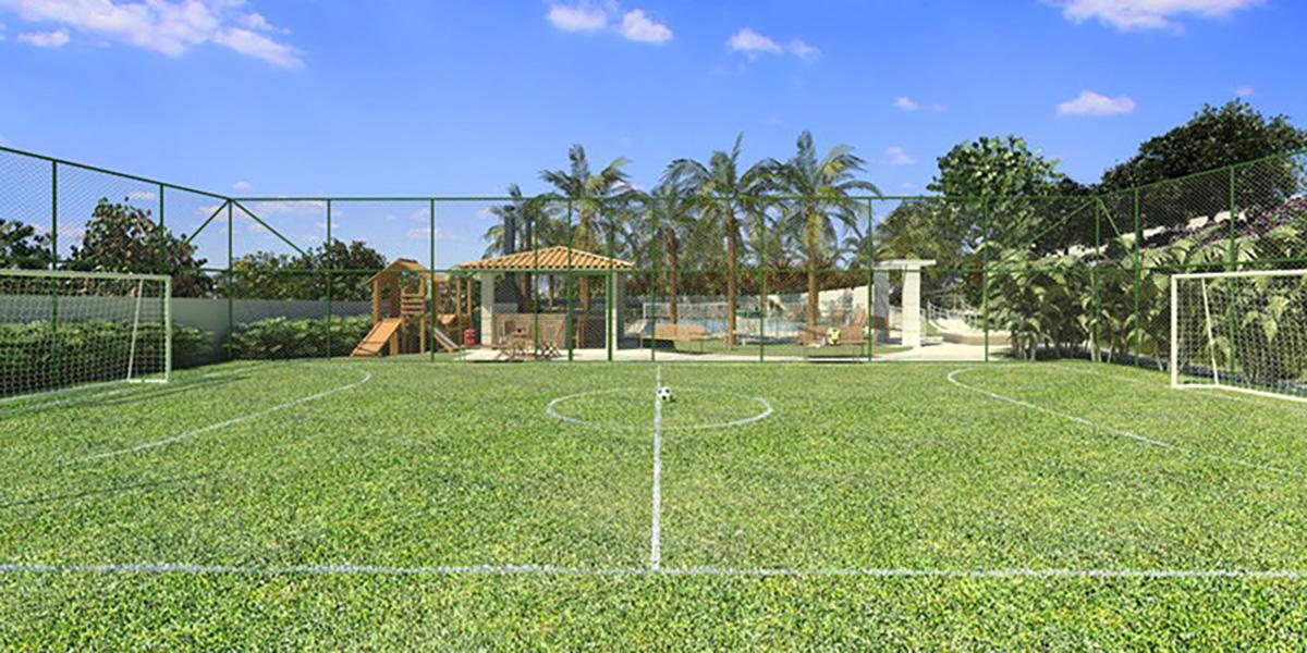 Perspectiva Ilustrada da Quadra Recreativa Cores Jardim Sul - Azul