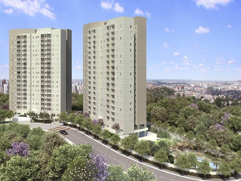 Perspectiva Ilustrada da Fachada Cores Jardim Sul - Azul