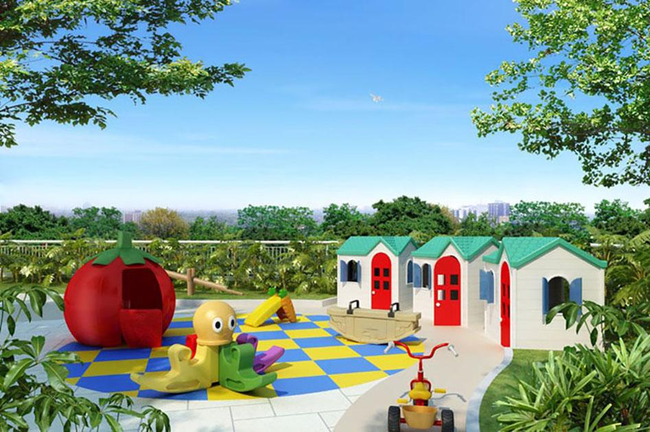 Perspectiva Ilustrada do Playground Infantil Águas de Março