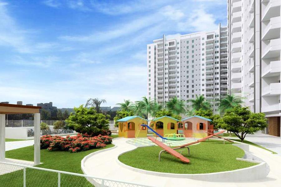 Perspectiva Ilustrada da Praça Infantil Aqua Clube Residencial
