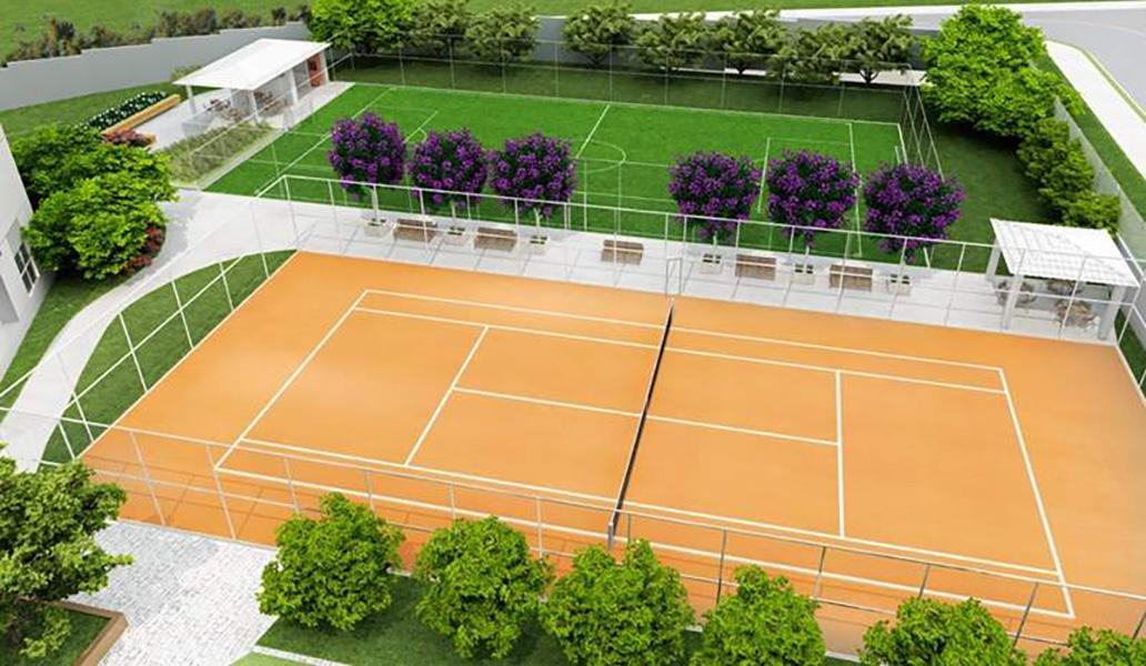 Perspectiva Ilustrada da Quadras Aqua Clube Residencial