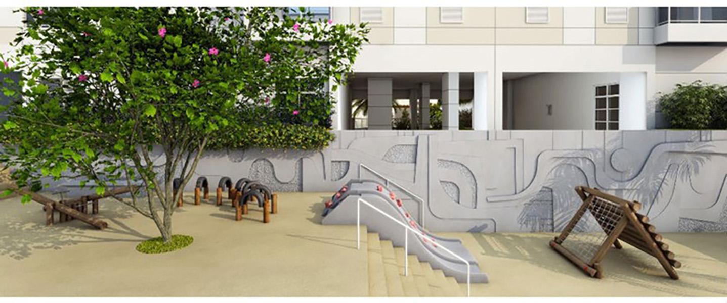 Perspectiva Ilustrada do Playground Infantil Admira Iracaí