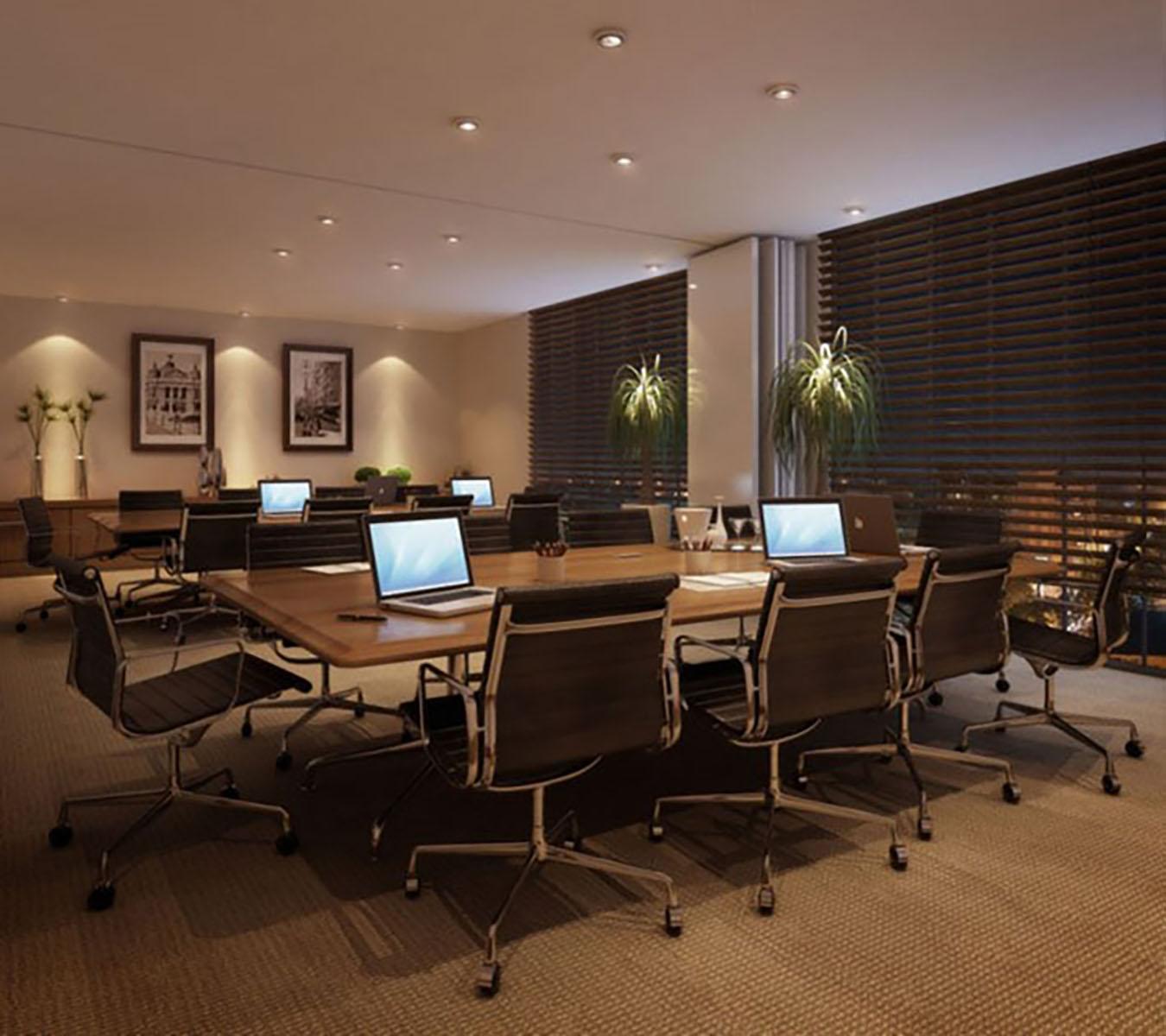 Perspectiva Ilustrada da Sala de Reunião Connect Work Station
