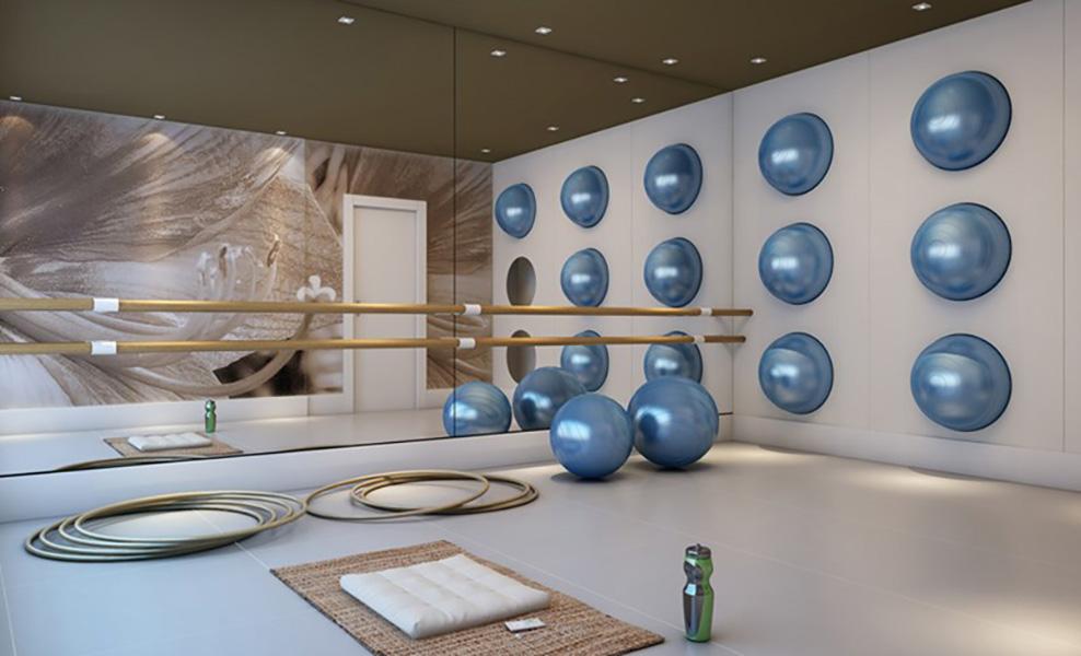 Perspectiva Ilustrada da Sala de Ginástica In Berrini