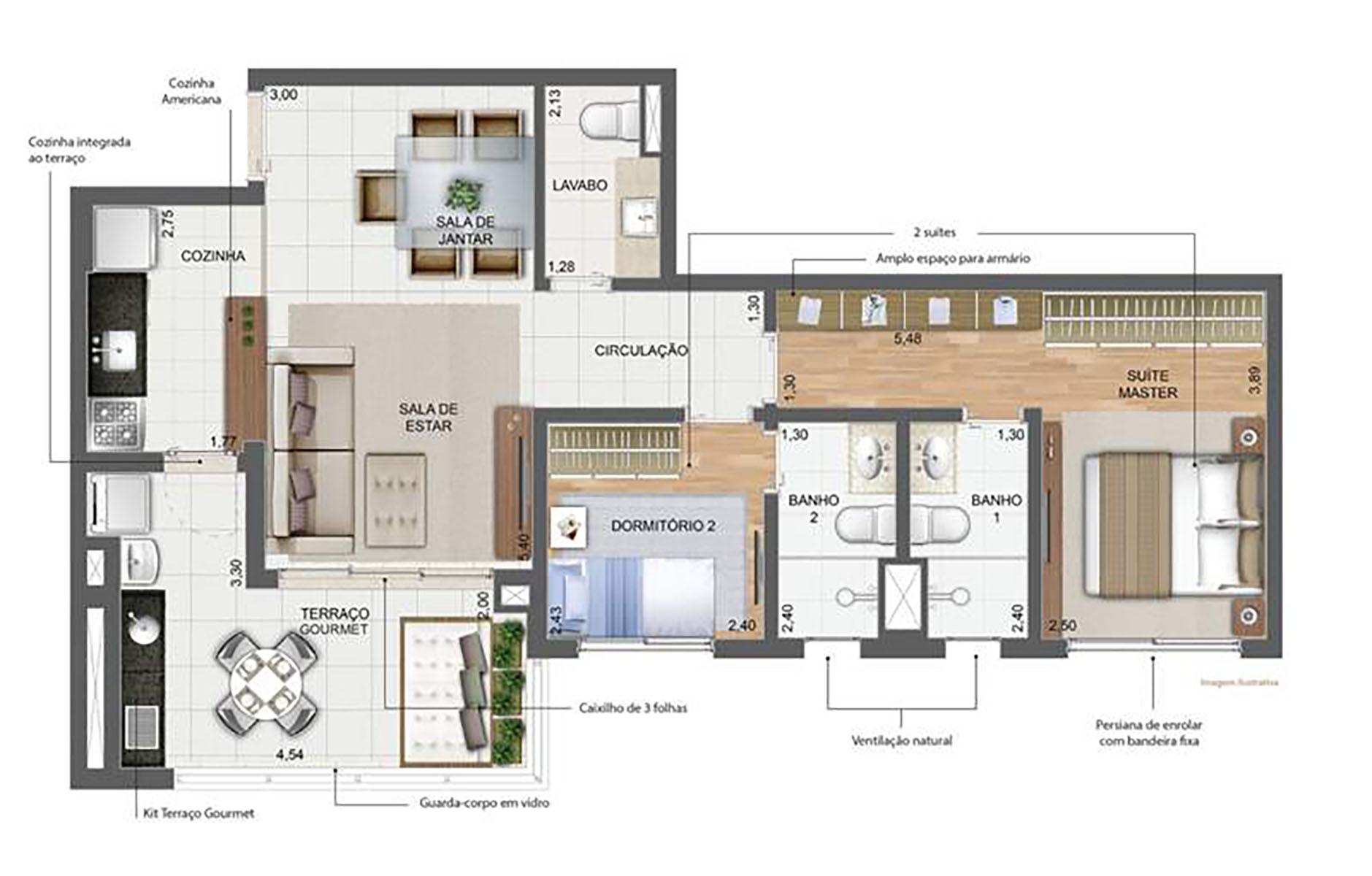 76 m² Padrão › NEW PARKER