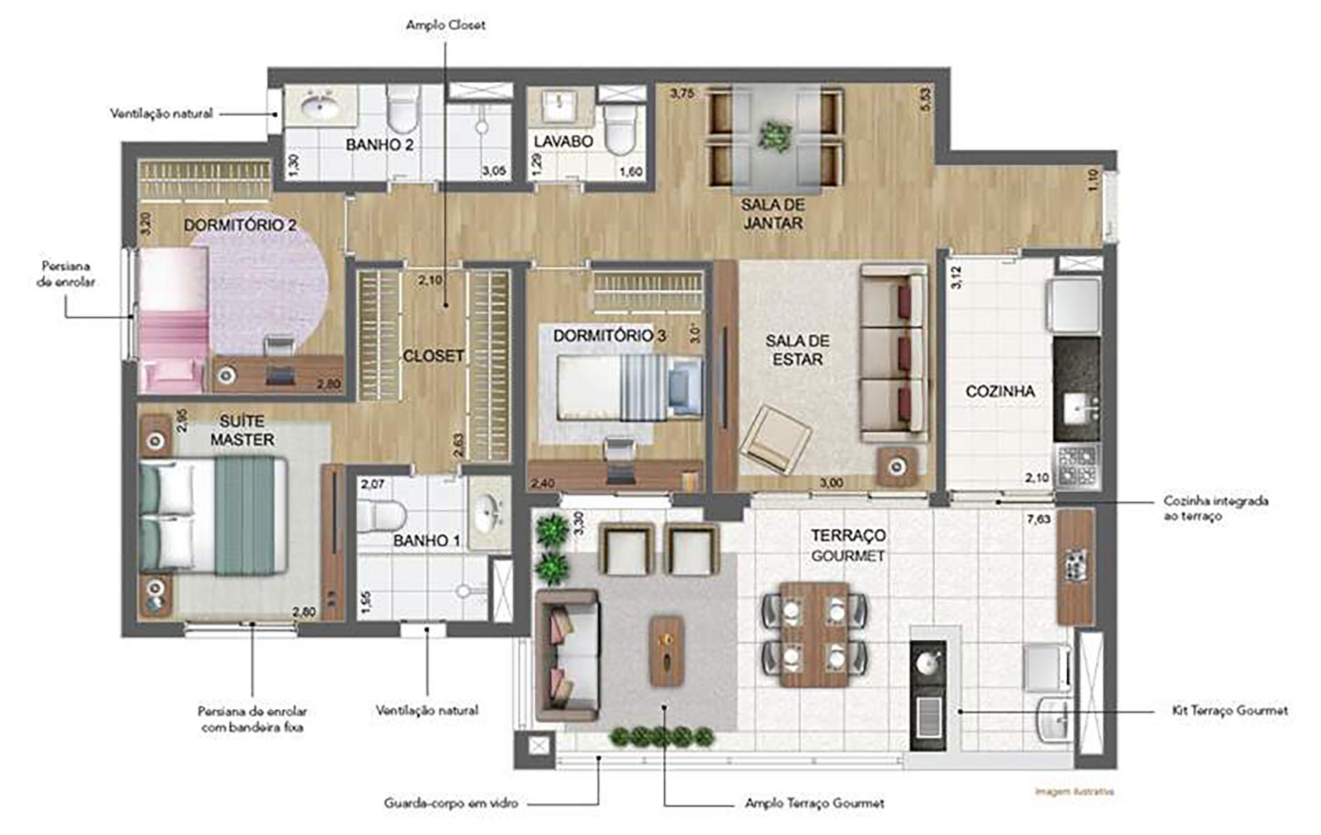 111 m² Padrão › NEW PARKER