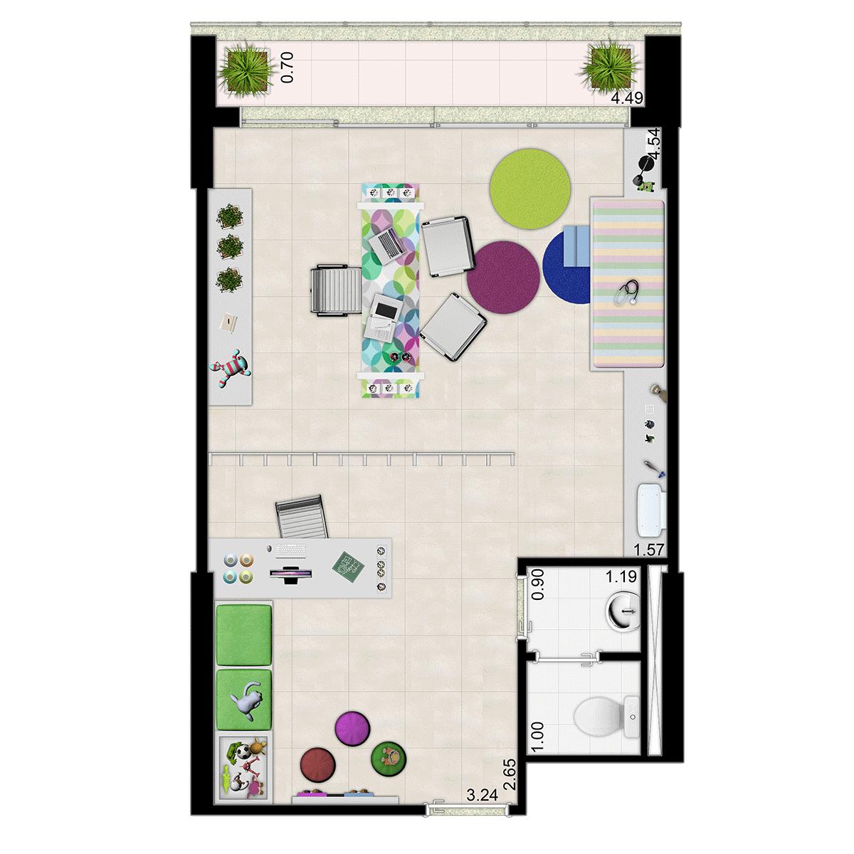 40m² Opção Sala de Pediatria Jurubatuba Empresarial