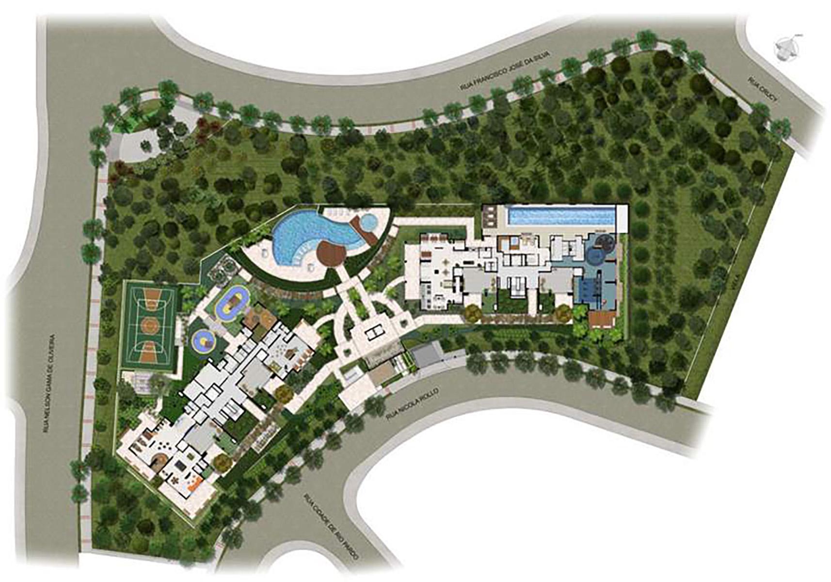 Ilustração Artística da Implantação Taman Jardim Sul