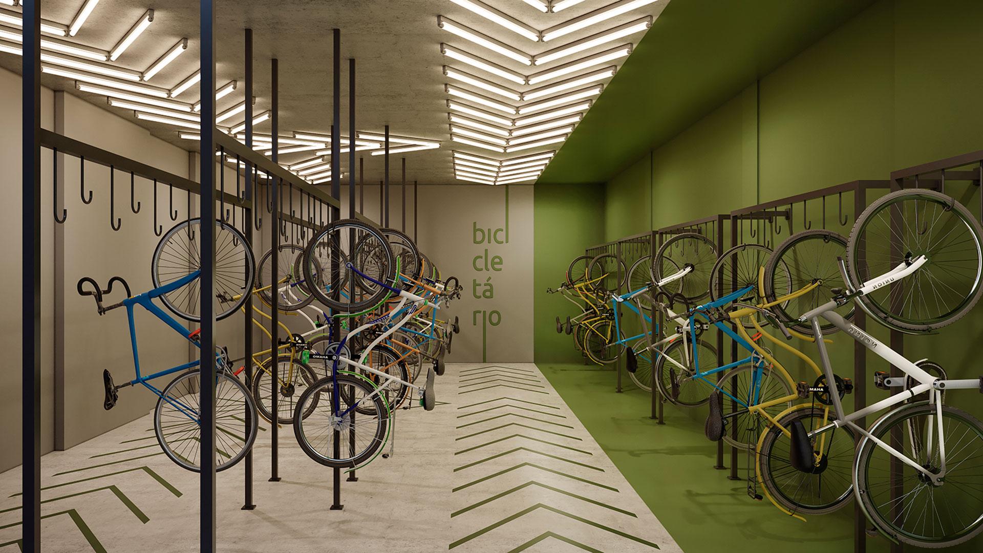 Perspectiva Ilustrada Bicicletário Versa Brooklin