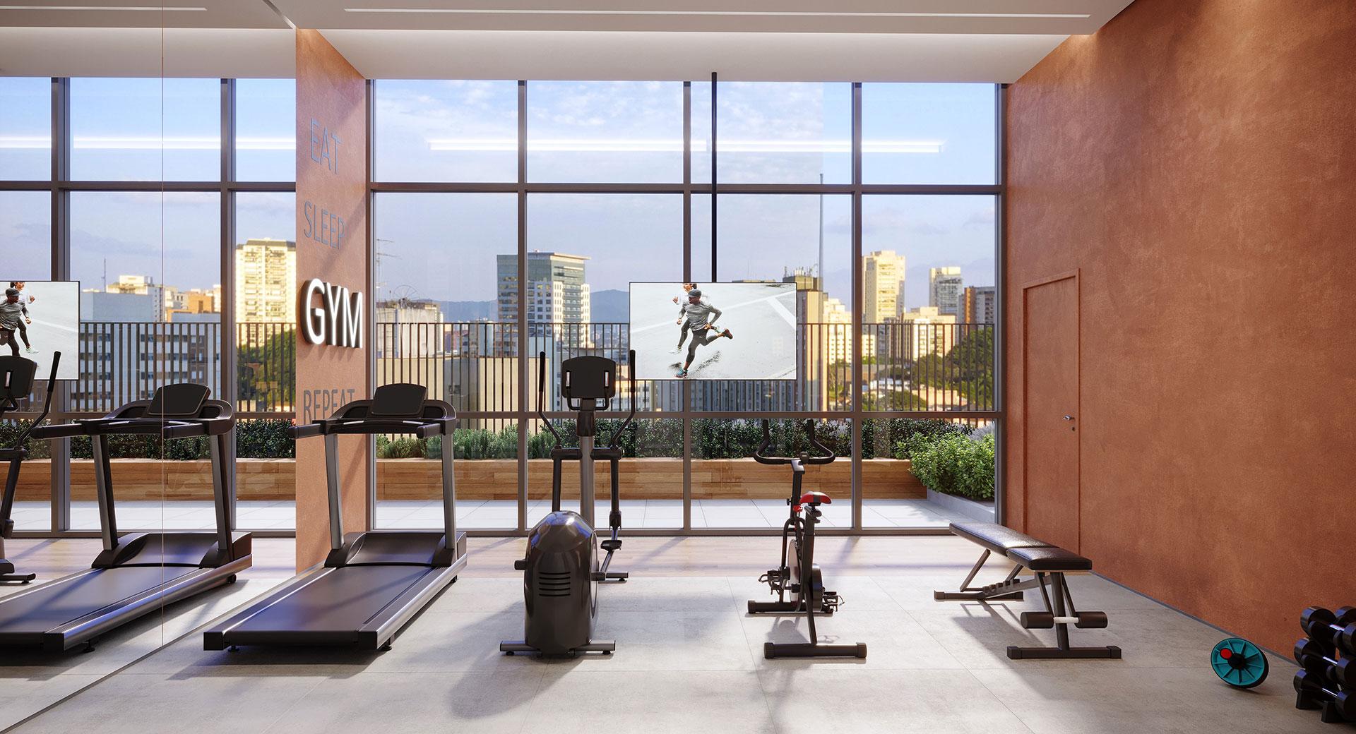 Perspectiva Ilustrada Fitness Versa Brooklin